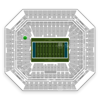 Miami Dolphins at Hard Rock Stadium Section 107 View