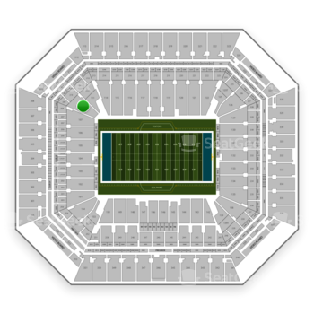 Miami Dolphins at Hard Rock Stadium Section 110 View