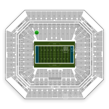 Miami Dolphins at Hard Rock Stadium Section 114 View