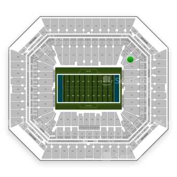 Miami Dolphins at Hard Rock Stadium Section 126 View