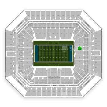 Miami Dolphins at Hard Rock Stadium Section 131 View