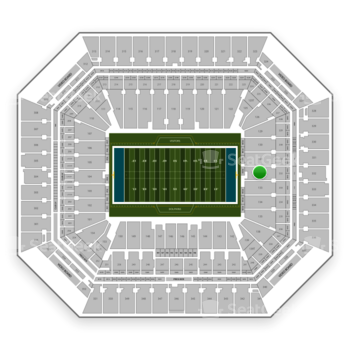 Miami Dolphins at Hard Rock Stadium Section 132 View