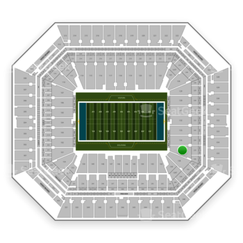 Miami Dolphins at Hard Rock Stadium Section 135 View