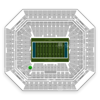 Miami Dolphins at Hard Rock Stadium Section 153 View