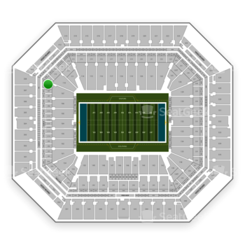 Miami Dolphins at Hard Rock Stadium Section 208 View