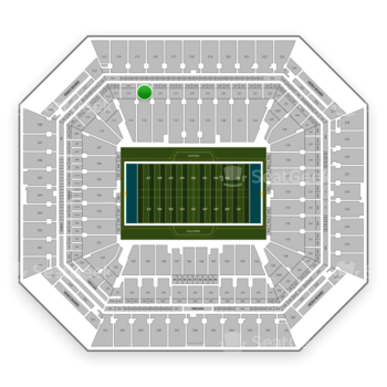 Miami Dolphins at Hard Rock Stadium Section 215 View
