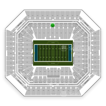 Miami Dolphins at Hard Rock Stadium Section 218 View