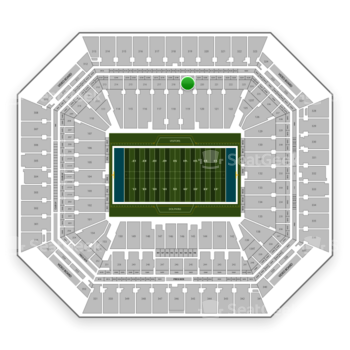 Miami Dolphins at Hard Rock Stadium Section 219 View