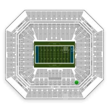 Miami Dolphins at Hard Rock Stadium Section 241 View