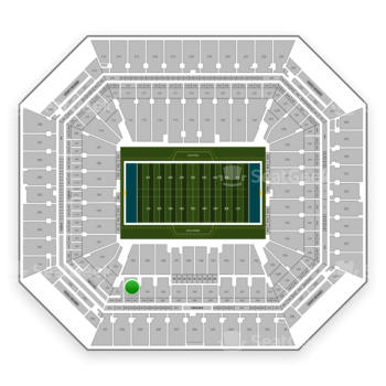 Miami Dolphins at Hard Rock Stadium Section 250 View