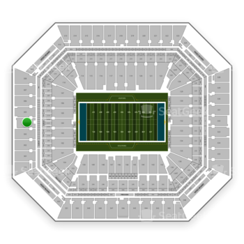 Miami Dolphins at Hard Rock Stadium Section 304 View