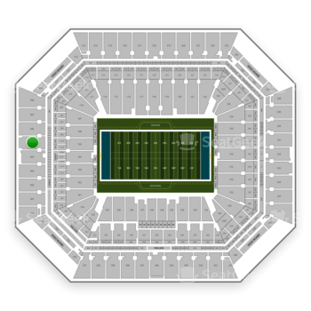 Miami Dolphins at Hard Rock Stadium Section 305 View