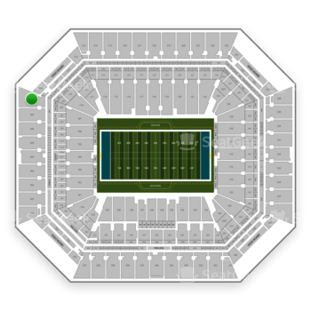Miami Dolphins at Hard Rock Stadium Section 308 View