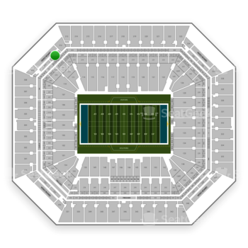 Miami Dolphins at Hard Rock Stadium Section 311 View