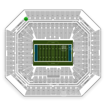 Miami Dolphins at Hard Rock Stadium Section 312 View