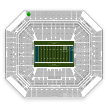 Miami Dolphins at Hard Rock Stadium Section 313 View