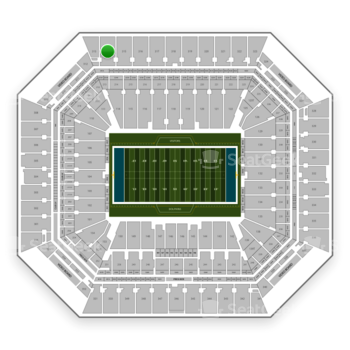 Miami Dolphins at Hard Rock Stadium Section 314 View
