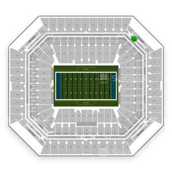 Miami Dolphins at Hard Rock Stadium Section 325 View