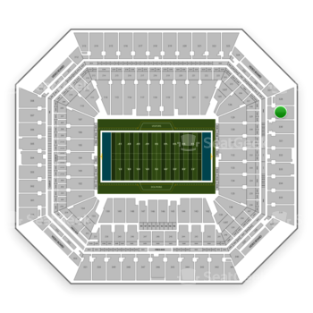 Miami Dolphins at Hard Rock Stadium Section 329 View