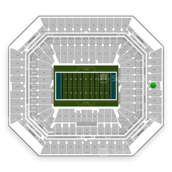 Miami Dolphins at Hard Rock Stadium Section 332 View