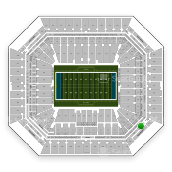 Miami Dolphins at Hard Rock Stadium Section 338 View