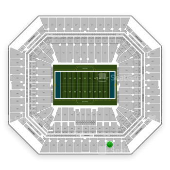 Miami Dolphins at Hard Rock Stadium Section 343 View