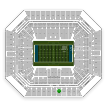 Miami Dolphins at Hard Rock Stadium Section 345 View