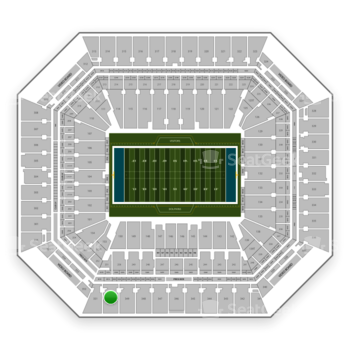 Miami Dolphins at Hard Rock Stadium Section 350 View