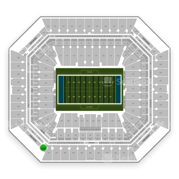 Miami Dolphins at Hard Rock Stadium Section 352 View