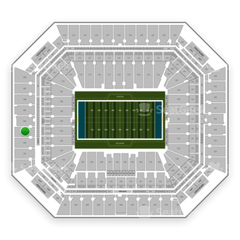 Miami Dolphins at Hard Rock Stadium Section 303 View