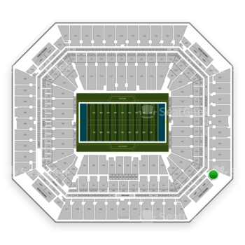 Miami Dolphins at Hard Rock Stadium Section 337 View