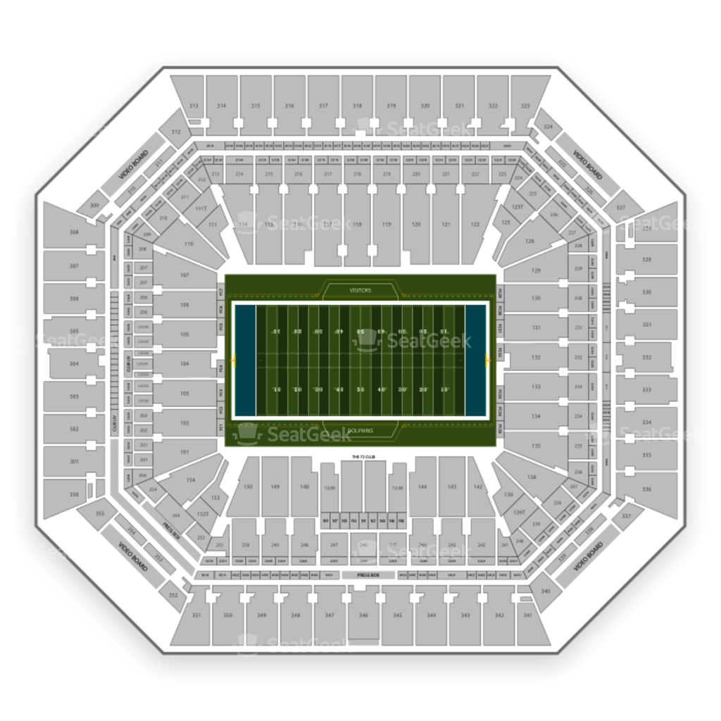 miami dolphins seating chart & map | seatgeek