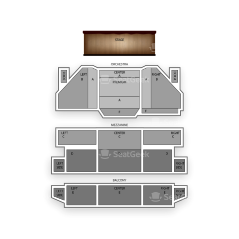 St. James Theatre seating chart Bullets Over Broadway
