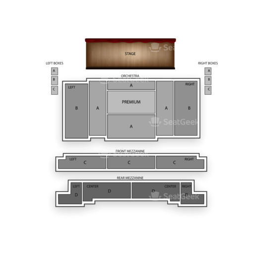The Book of Mormon Seating Chart NYC