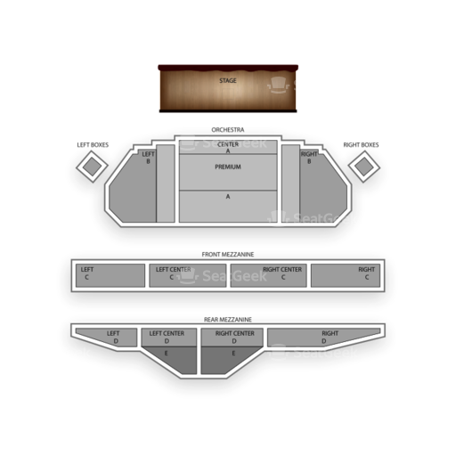 Ambassador Theatre Seating Chart