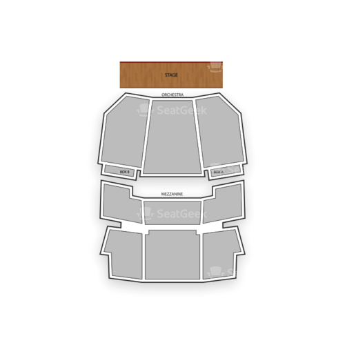 Walnut Street Theatre - Main Stage Seating Chart Concert