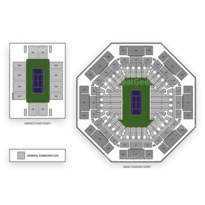 Tennis Center at Crandon Park seating chart Miami Open Tennis