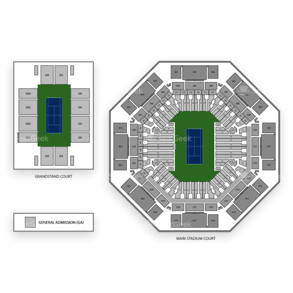 Tennis Center At Crandon Park Seating Chart Interactive Seat Map