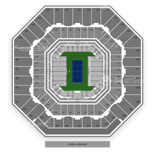 Arthur Ashe Stadium Seating Chart Tennis
