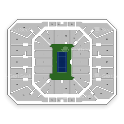 2019 Us Open Tennis Championship Session 1 Round 1 Mens And - Us-open-tennis-center-map