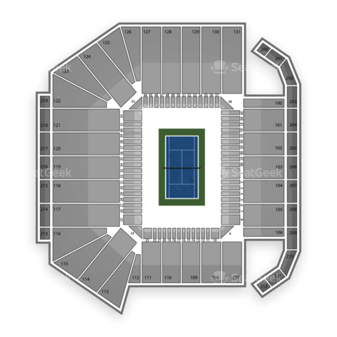 Louis Armstrong Stadium seating chart US Open Tennis