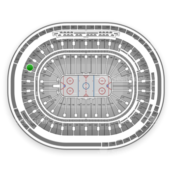 Vancouver Canucks at Rogers Arena Section 302 View