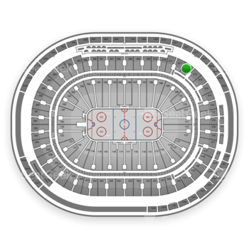 Vancouver Canucks at Rogers Arena Section 312 View