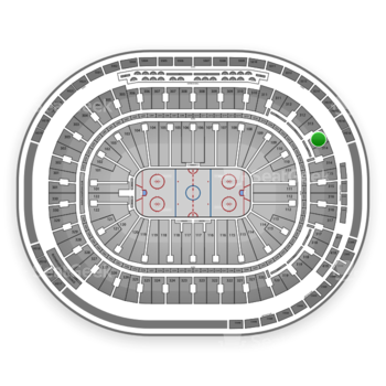 Vancouver Canucks at Rogers Arena Section 313 View