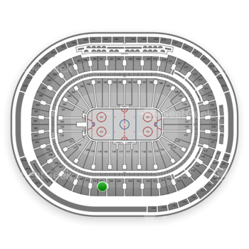 Vancouver Canucks at Rogers Arena Section 324 View