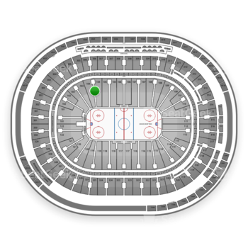 Vancouver Canucks at Rogers Arena Section 104 View