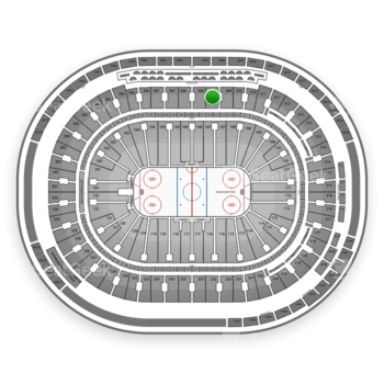 Vancouver Canucks at Rogers Arena Section 309 View