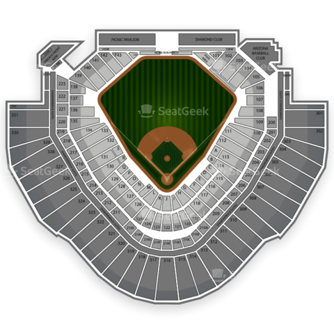 Chase Field seating chart Arizona Diamondbacks