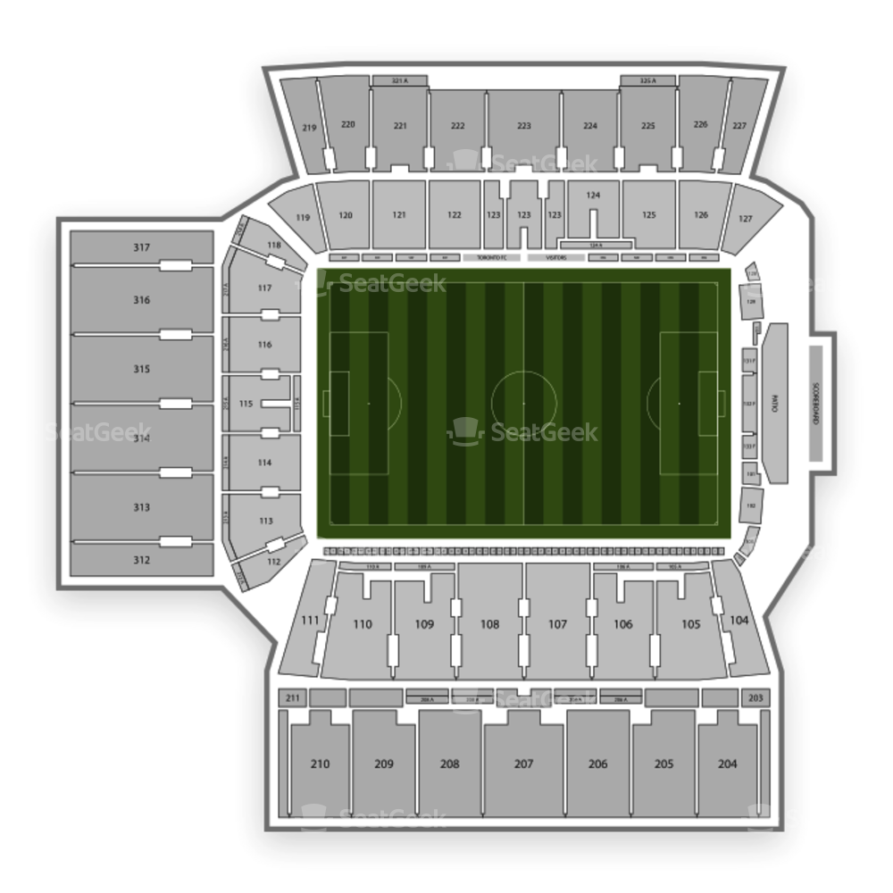 BMO Field Seating Chart Parking