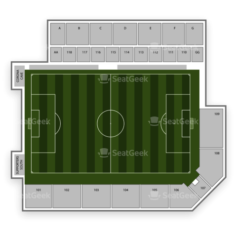 Buck Shaw Stadium seating chart San Jose Earthquakes